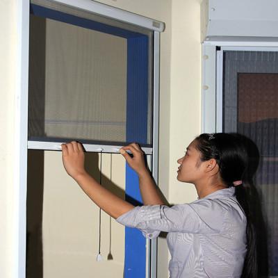 Cửa lưới chống muỗi tự cuốn thông dụng